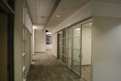 3rd floor corridor with glass wall system