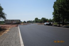 New driveway and parking lot