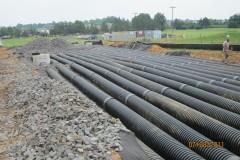 Underground drainage field