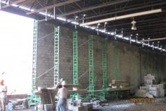 Exterior CMU wall erection