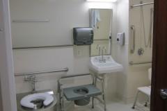 Patient room bathroom