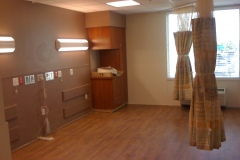 Renovated patient room