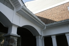 PVC arch and soffit at covered walkway