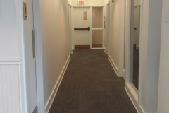 Completed interior corridor