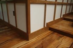 Custom organ screen with Tiger maple flooring