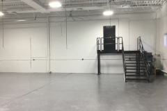 Warehouse space with new stairs