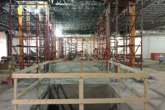 Escalator pit and 2nd floor shoring